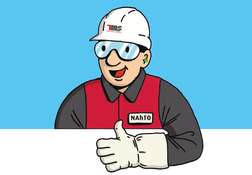 TMS Industrial Services veiligheidsmascotte (NATHO)
